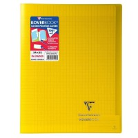 CLAIREFONTAINE - Cahier piqûre KOVERBOOK - 24 x 32 - 96 pages Seyes - Couverture Polypro translucide - Jaune