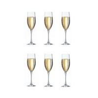ARCOROC CARBENET Lot de 6 flûtes a champagne 16 cl transparent