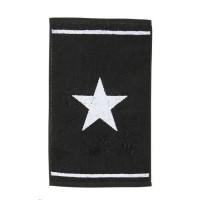 DONE Serviette invité Daily Shapes 1 Star - 30x50 cm - Noir et blanc