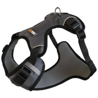 YAGO Harnais Sport pour Chien, Couleur Gris, Réglable Taille M 69-80 cm, Tissu waterproof imperméable
