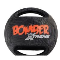 ZEUS Balle Mini Xtreme Bomber en caoutchouc 11,4 cm - Noir et orange - Pour chien