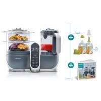 BABYMOOV Nutribaby(+) & Foodii - Robot Multifonctions & Kit de Gourdes Réutilisables