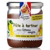 LUCIEN GEORGELIN Pâte a tartiner aux noisettes du Lot et Garonne et citrons confits - 400 g