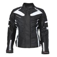 RIDER-TEC Blouson moto femme, homologué CE, Noir & Blanc