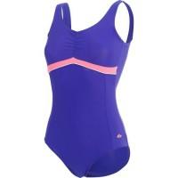 ATHLITECH Maillot de bain de piscine Prunelle - 1 piece - Femme - Bleu/Corail