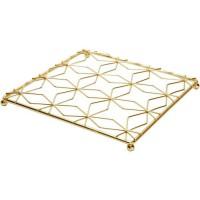 COSY&TRENDY 2637367 Dessous de plat carré métal doré 20X20XH1,5Cm