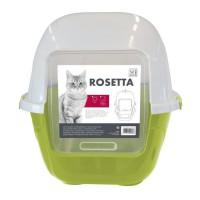MPETS Maison de toilette Rosetta - 62x53x56 cm - Vert - Pour chat