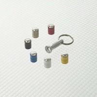 RICHBROOK kit de 4 Capuchons de valves antivol spinning + 1 clé - Gris argenté
