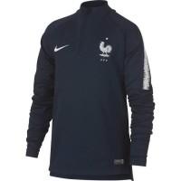 NIKE T-shirt de football Dril FFF France 2018 - Enfant garçon - Bleu