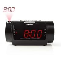 """NEDIS CLAR005BK Radio-Réveil Numérique a Projection - LED 0,9"""" - FM - Alarme Double - Snooze (rappel de réveil)"""