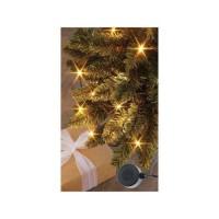 BLACHERE Flicker Light - Pilotable par Smartphone - 96 LED Blanc chaud - L 6 m - Câble Noir - 31V - Enceinte 2W