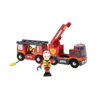 BRIO World - 33811 - Camion De Pompiers Son Et Lumiere - Jouet en bois