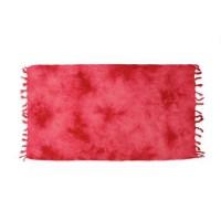 SOLEIL D OCRE Fouta de bain Tie and Dye - 100% coton - 80x150 cm - Rouge