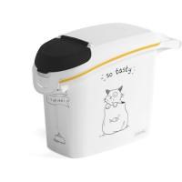 CURVER Conteneur de nourriture Le Diner est servi - 6 kg - 15 L - Blanc et noir - Pour chat