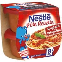 NESTLÉ P'tite Recette Spaghetti a la bolognaise - 2x200 g - Des 8 mois