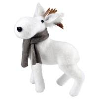 AUTOUR DE MINUIT Caribou avec echarpe grise - H 23,5cm