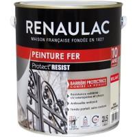 RENAULAC Peinture Fer Beige Sablonneux - Brillant - Garantie 10 ans - 2,5L - 40m² / pôt