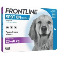 FRONTLINE Spot On chien 20-40kg - 6 pipettes