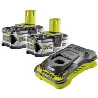 RYOBI 2 batteries 18V 5Ah + chargeur ultra rapide 5,0 A