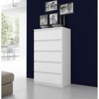 FINLANDEK Commode de chambre NATTI style contemporain blanc mat - L 78 cm