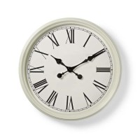 MARY Horloge murale circulaire - Ø 50 cm - Style ancien - Blanc