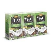 THAI KITCHEN Lait de coco Tetrapack sans additifs - 3 x 250 ml