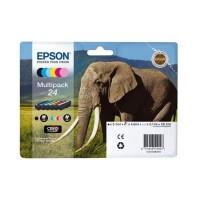 """Epson Cartouche Multipack 24 """"Eléphant"""" Claria Photo HD - Noir + 5 Couleurs"""