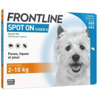 FRONTLINE Spot On chien 2-10kg - 6 pipettes
