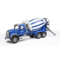 BRUDER - 2814 - Grand Camion toupie a beton MACK bleu - 65 cm