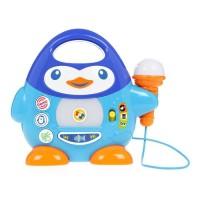 WINFUN - Lecteur de musique Penguin avec microphone bleu