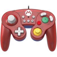 Hori Battle Pad Manette Filaire Type GameCube Super Smash Bros Pour Nintendo Switch - Design Mario - Licence Officielle Nintendo
