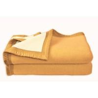 Couverture Aubisque en laine woolmark 240x260 cm mais et champagne
