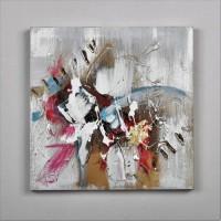 Tableau déco Modern 46 - Toile peinte a la main - 30 x 30 x 2,5 cm