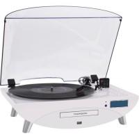 THOMSON TT401CD Tourne Disque 3 Vitesses - Lecteur CD/MP3 - Port Usb 2.0 - RadioFM - Enregistrez vos vinyles ou vos CD sur clé