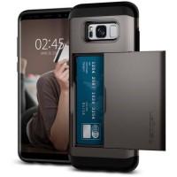 SPIGEN Coque Slim Armor pour Galaxy S8 Plus - Gris métallisé
