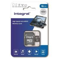 INTEGRAL MEMORY Micro SDHC 16GB Haute Vitesse 100MB/s de vitesse de transfert