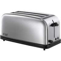 RUSSEL HOBBS 23520-56 Toaster Grille Pain 1600W Victory 2 Longues Fentes Chauffe Viennoiserie Design Rétro
