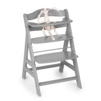 HAUCK Chaise Haute en Bois pour bébé Évolutive Alpha + / grey