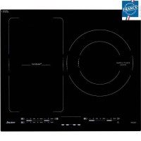 Sauter - SPI4662B Table Induction - 3 foyers dont 1 zone modulable et 1 foyer de 28cm - Noir