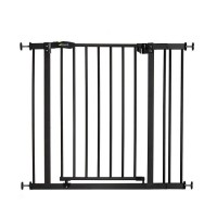 HAUCK Barriere de sécurité enfant close'n stop 75-90cm + extension 9 cm - Charbon
