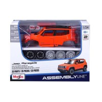 MAISTO Véhicule a monter Jeep Renagad 1/24eme - Orange