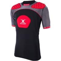GILBERT Sous-maillot de rugby renforcé ATOMIC V3 - 3 zones de protection - Rouge