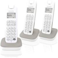 ALCATEL Téléphone fixe D185 VOICE TRIO Blanc/Gris