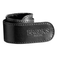 BROOKS Sangle a pantalon en cuir - Noir