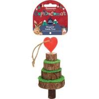 ROSEWOOD Friandise arbre de Noël en bois et Loofa - Pour rongeur