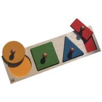 BSM Jeu d'encastrement Formes géométriques et couleurs - Mixte - Livré a l'unité