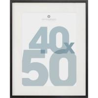 ATMOSPHERA Cadre Photo en MDF et verre - 40 x 50 cm - Noir Manu