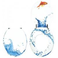 Abattant wc fantaisie décoration poisson