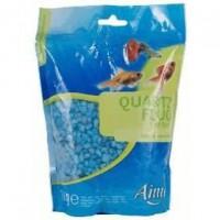 AIME Gravier fluo bleu - Pour aquarium - Sac de 1 kg