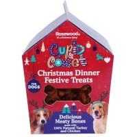 ROSEWOOD Boîte de Noël cadeau avec friandises Dinner - Pour chien - 100 g